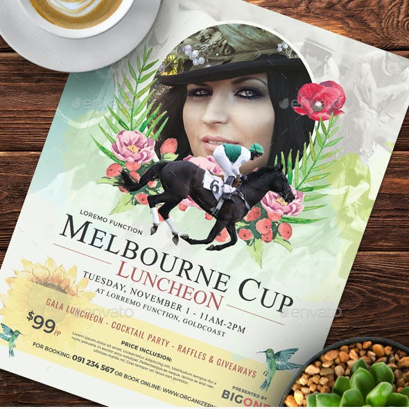 Melbourne Cup Flyer Templates