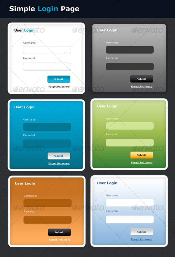 Simple Login Page - Decorative Graphics