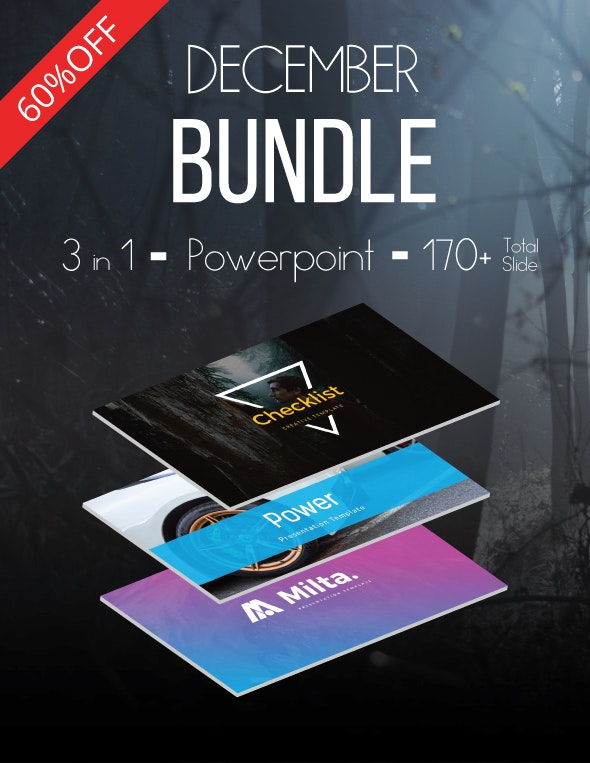 December Bundle 3 in 1 Powerpoint - Business PowerPoint Templates