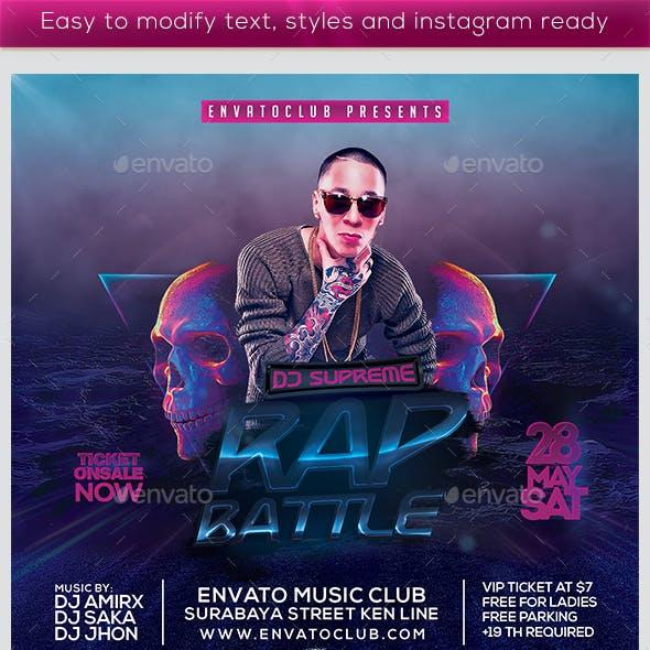 The Rap Battle Flyer