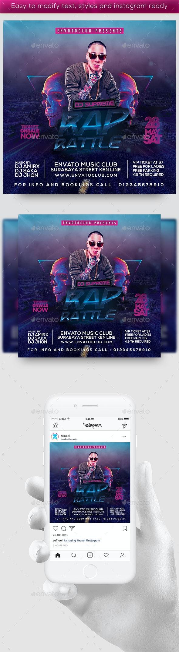 The Rap Battle Flyer - Clubs & Parties Events