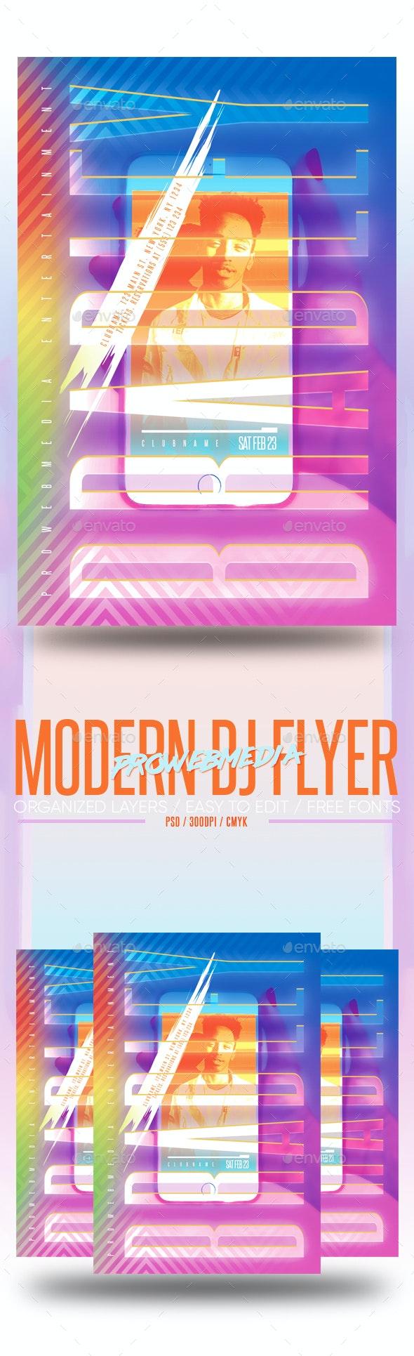 Modern DJ Flyer - Clubs & Parties Events