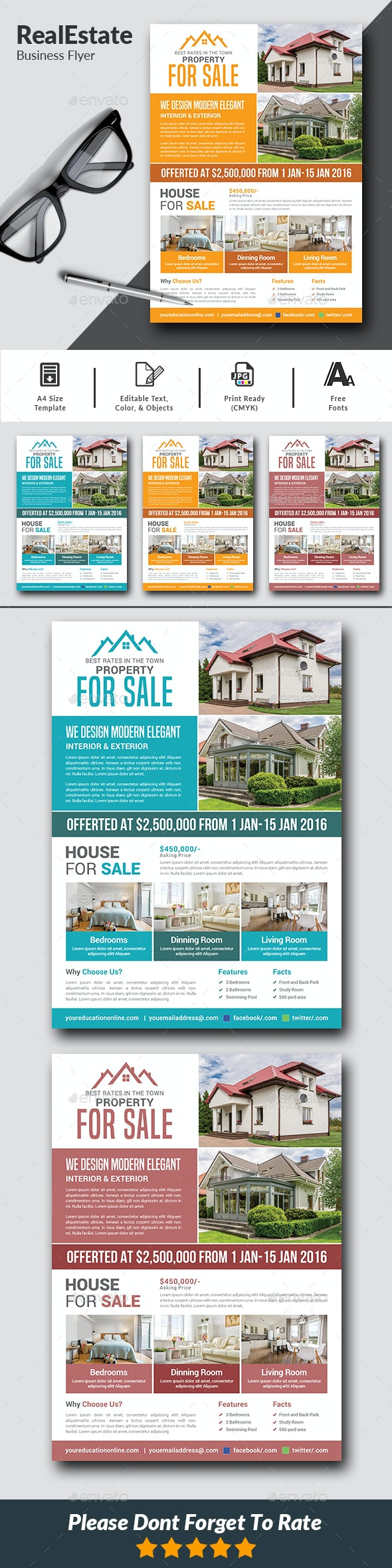 Real Estate Flyer Templates - Commerce Flyers