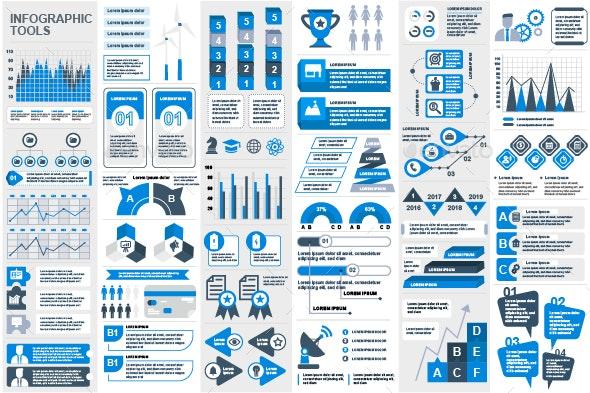 Set of Infographic Elements - Infographics