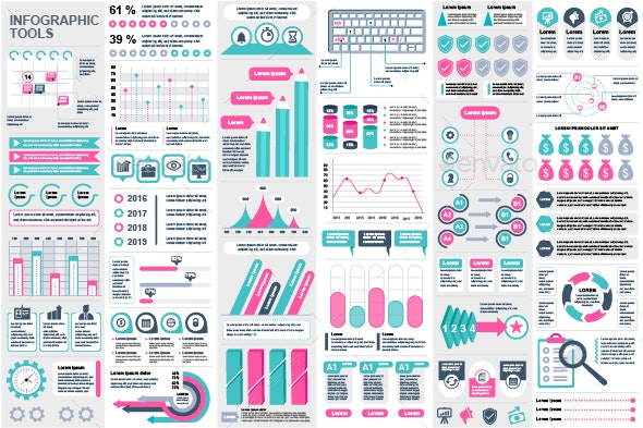 Set of Infographic Elements - Infographics