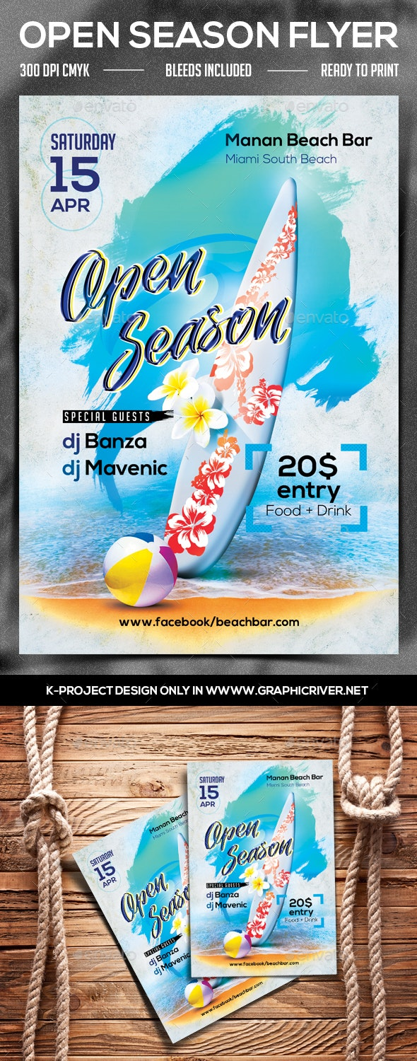 Open Season Party Flyer - Clubs & Parties Events