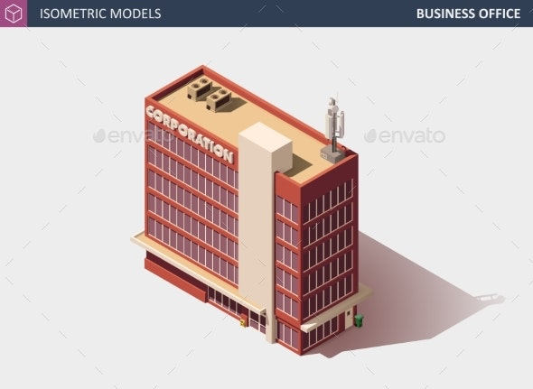 Business Office or Commercial Building - Buildings Objects