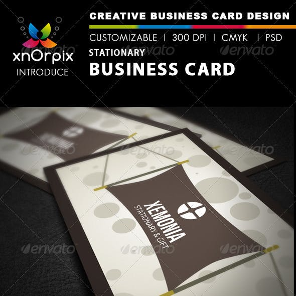 Stationary Business Card