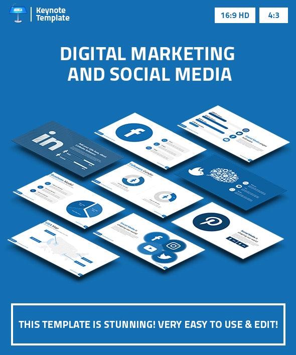 Digital Marketing and Social Media 2 Keynote Presentation Template - Business Keynote Templates