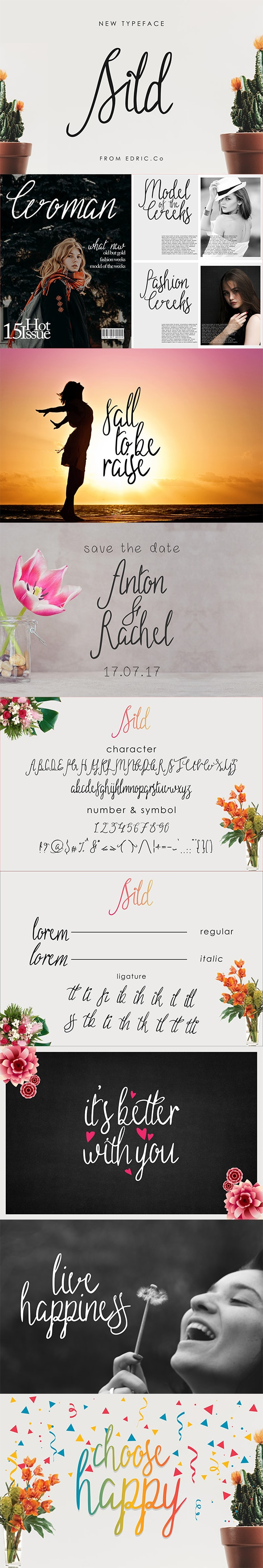 Sild Beauty Font - Modern Handwriting Feminism Signature - Hand-writing Script