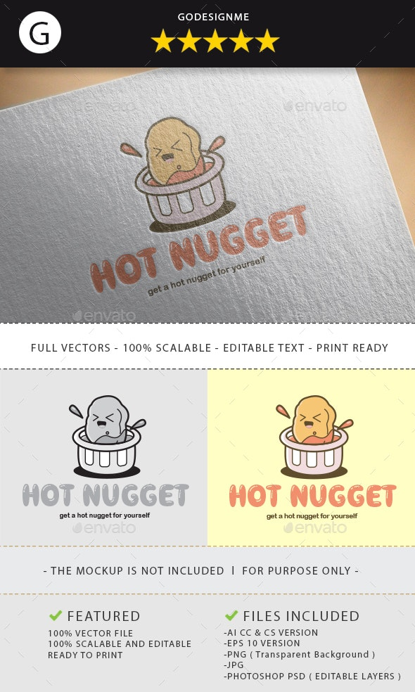 Hot Nugget Logo Design - Vector Abstract