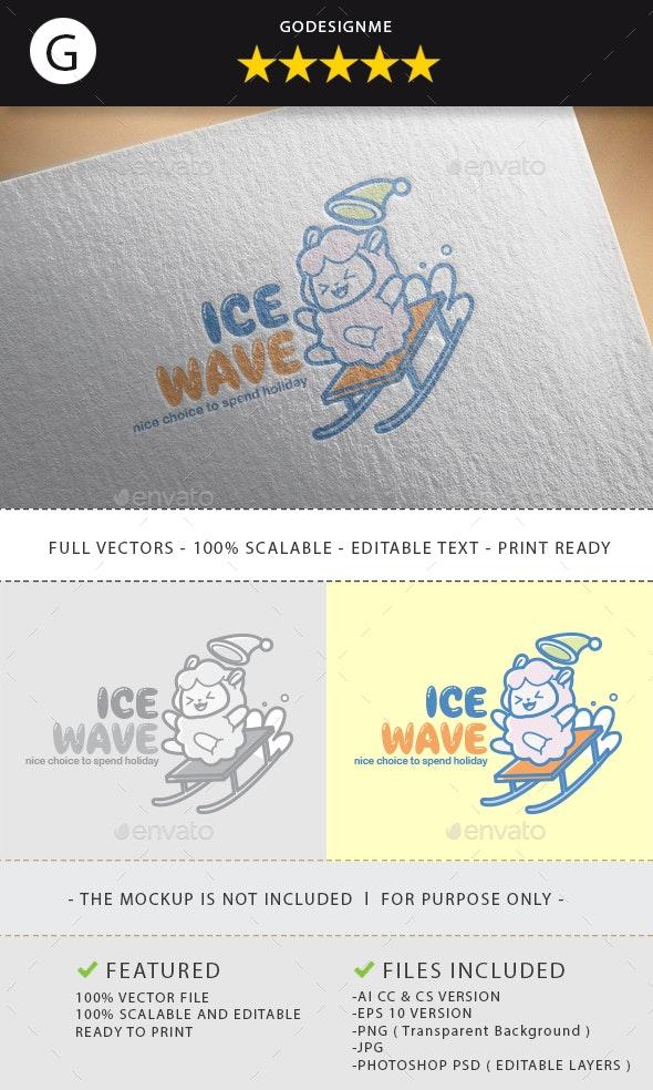 Ice Wave Logo Design - Vector Abstract