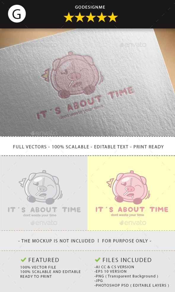 Its About Time Logo Design - Vector Abstract