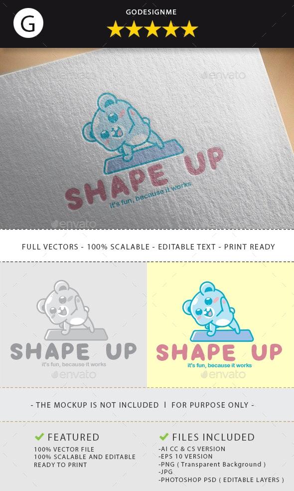 Shape Up Logo Design - Vector Abstract
