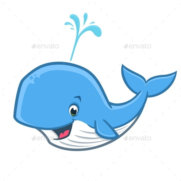 Cartoon Happy Whale - Animals Characters