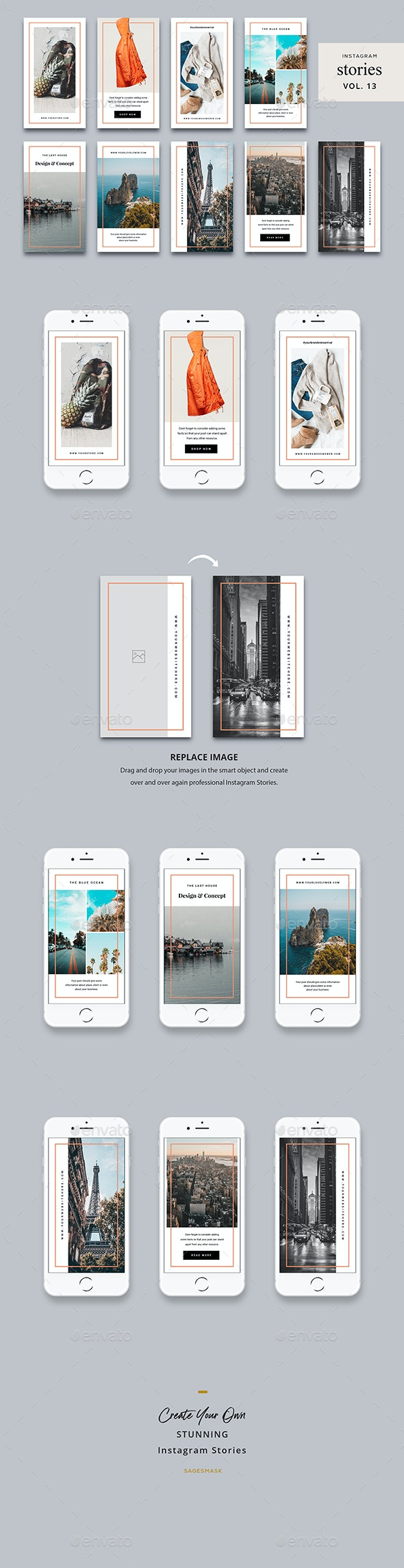 Instagram Stories Vol. 13 - Social Media Web Elements