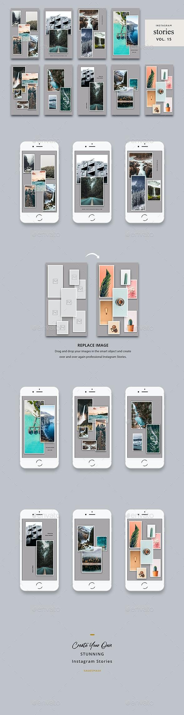 Instagram Stories Vol. 15 - Social Media Web Elements