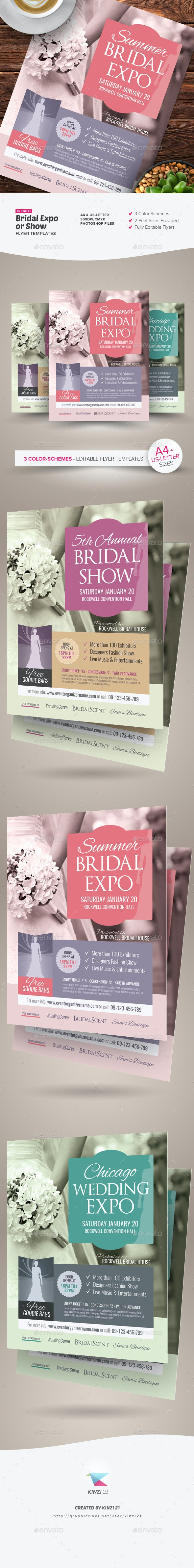 Bridal Expo or Show Flyer Templates by kinzi21 | GraphicRiver