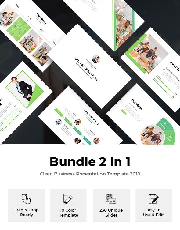 Bundle 2 In 1 Start-Up Pitch Deck Powerpoint Template - Business PowerPoint Templates