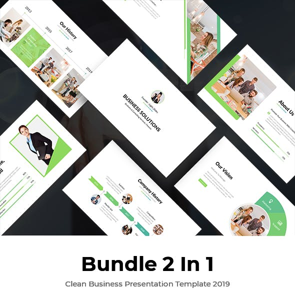 Bundle 2 In 1 Start-Up Pitch Deck Powerpoint Template