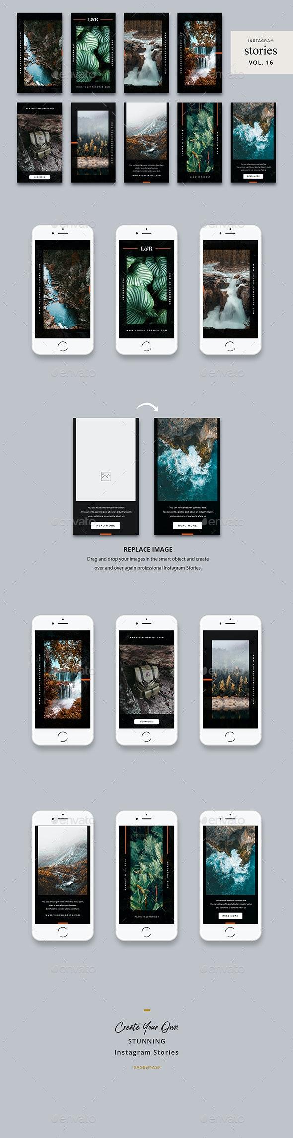 Instagram Stories Vol. 16 - Social Media Web Elements
