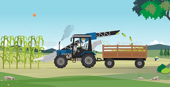 Agricultural Harvesting - Organic Objects Objects