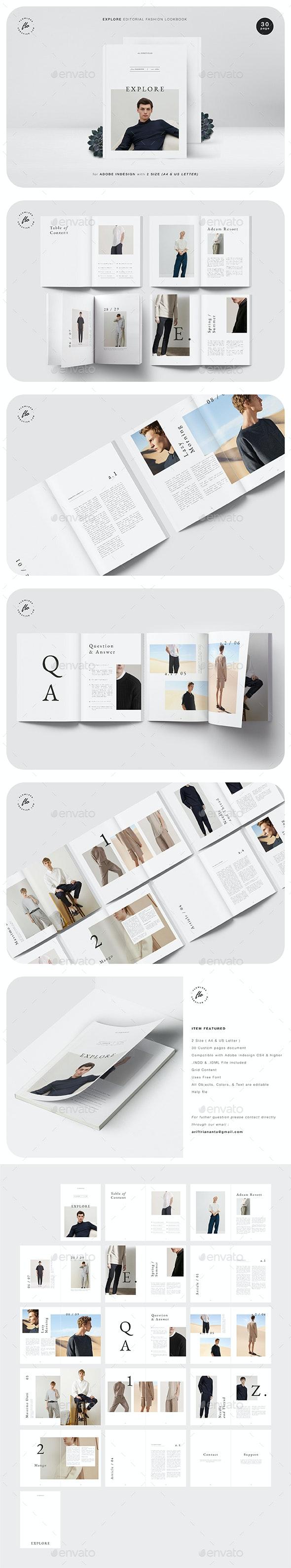 Explore Editorial Fashion Lookbook - Magazines Print Templates