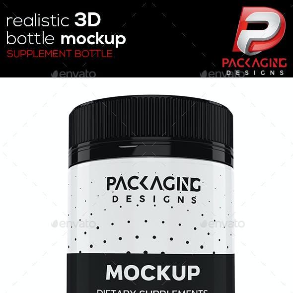 Realistic 3D Supplement Bottle Mock-Up-7