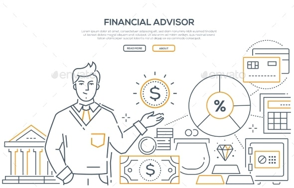 Financial Advisor - Modern Line Design Style Web - Concepts Business