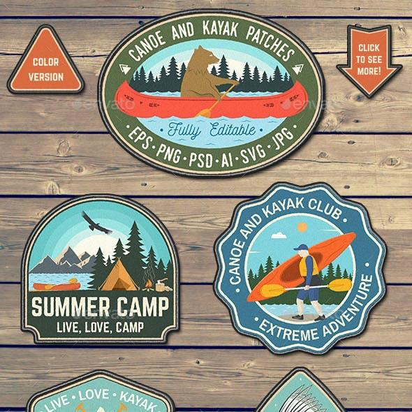 Canoe and Kayak Club Patches