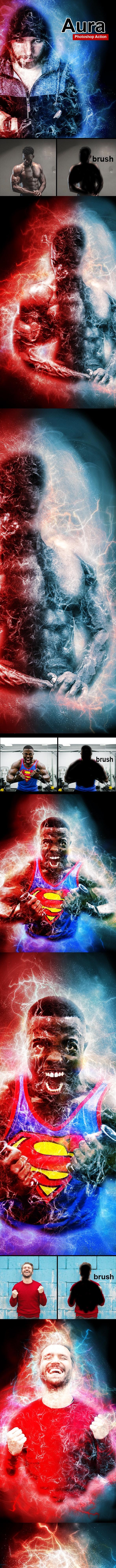 Amazing Aura Photoshop Action Vol 1 - Photo Effects Actions