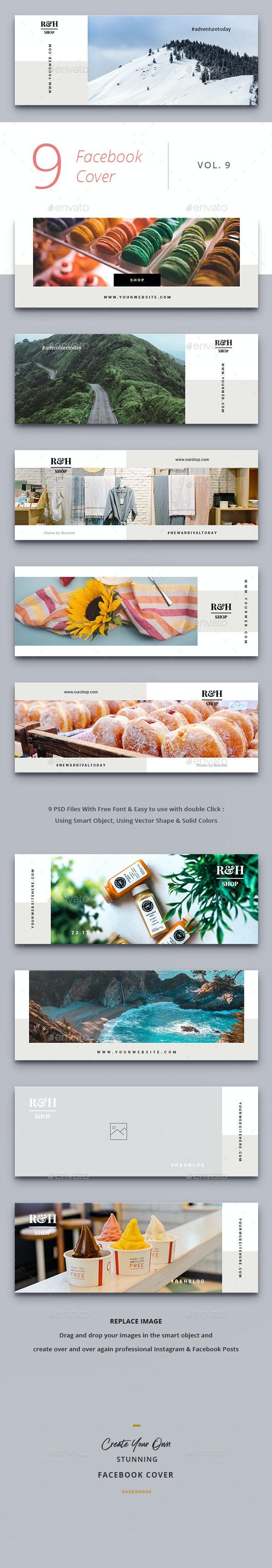 Facebook Cover Vol. 9 - Social Media Web Elements
