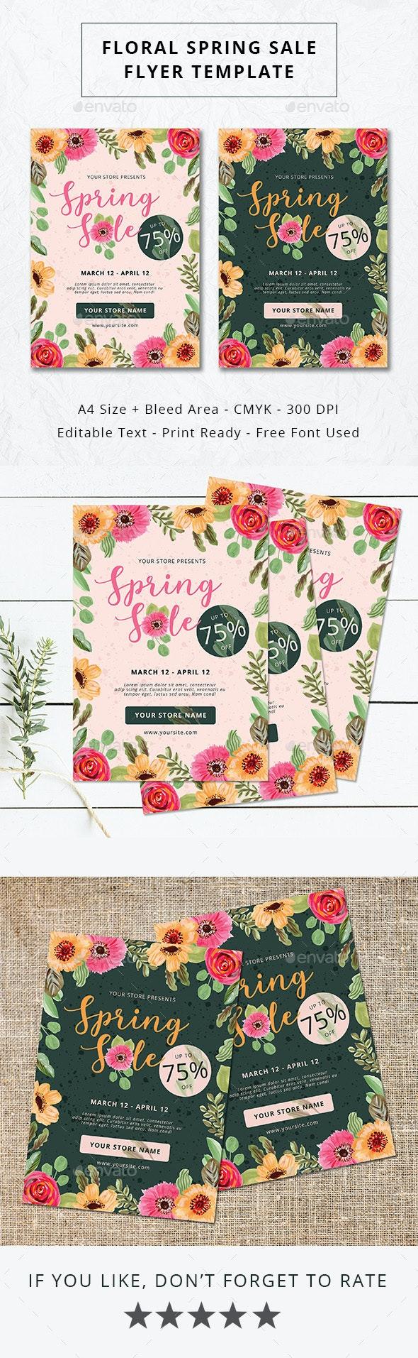 Floral Spring Sale Flyer - Commerce Flyers