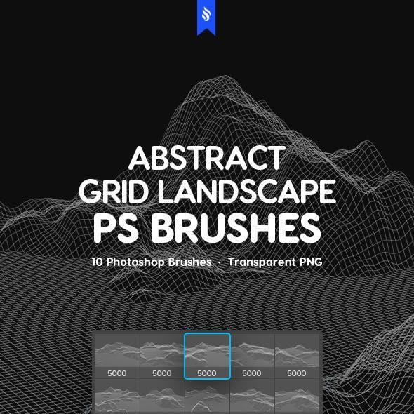 Grid Landscape Photoshop Brushes