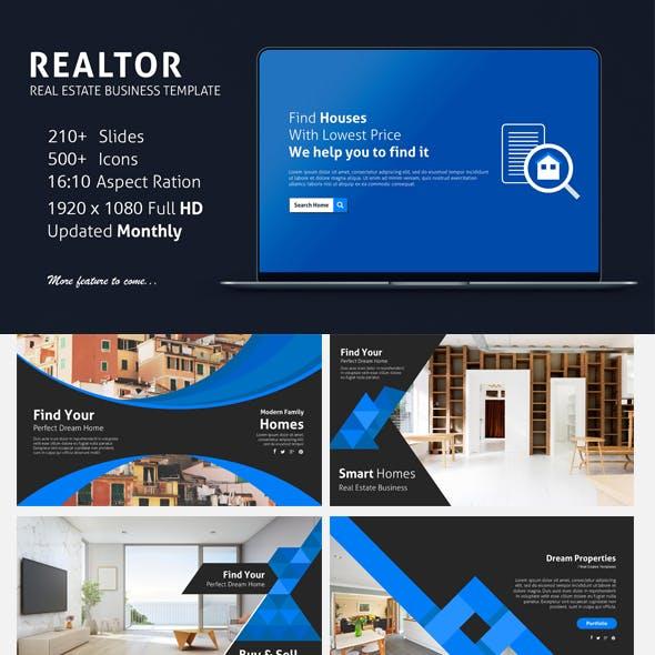 Realtor - Real Estate Business Google Slides