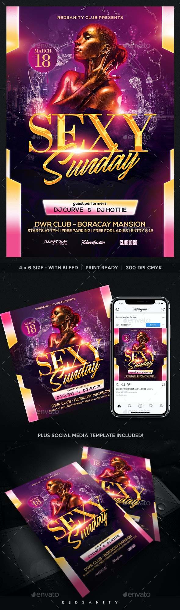 Sexy Sunday Flyer - Clubs & Parties Events
