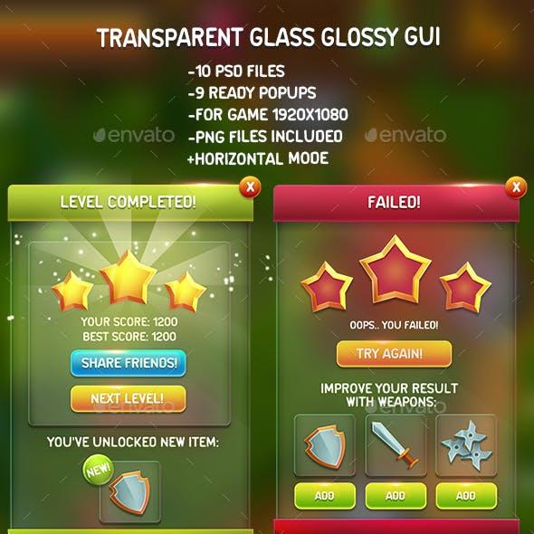 Transparent Glass Glossy GUI