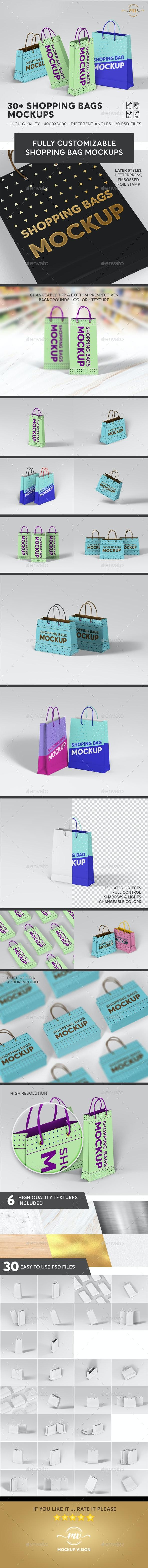 30+ Shopping Bags Mockups Bundle - Miscellaneous Print