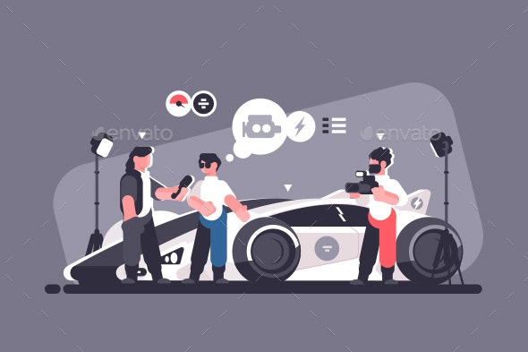 Mass Media Interview with Experts and Auto Review - Media Technology