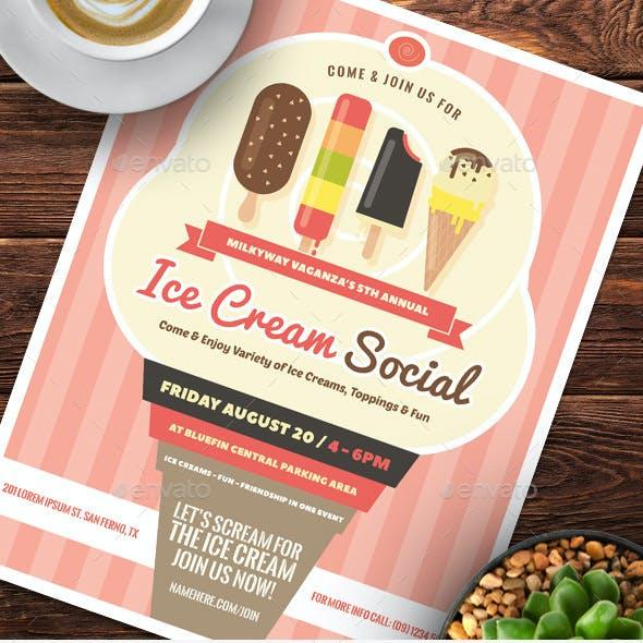 Ice Cream Social Flyer Templates