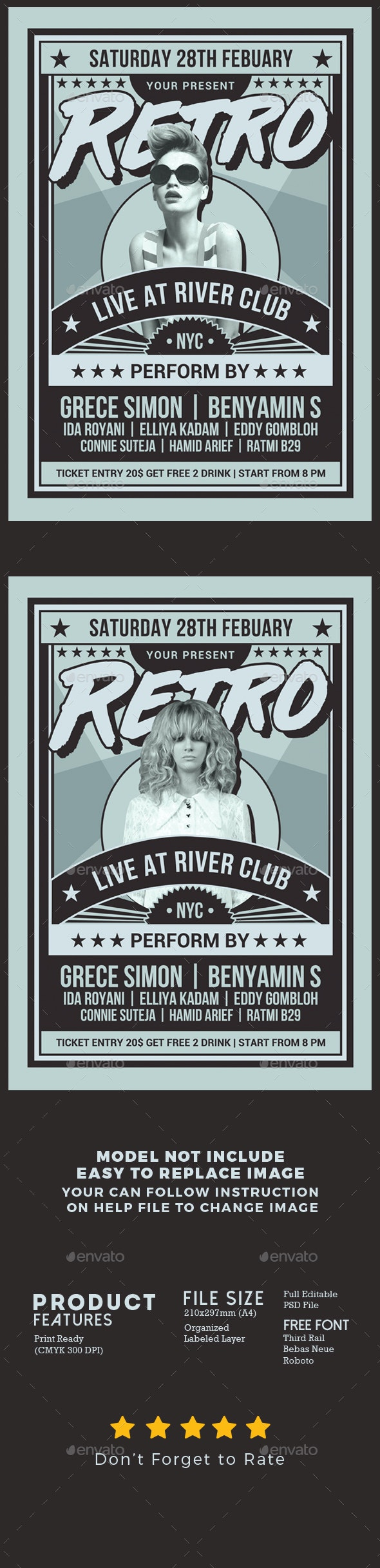 Retro Music Show Flyer - Events Flyers