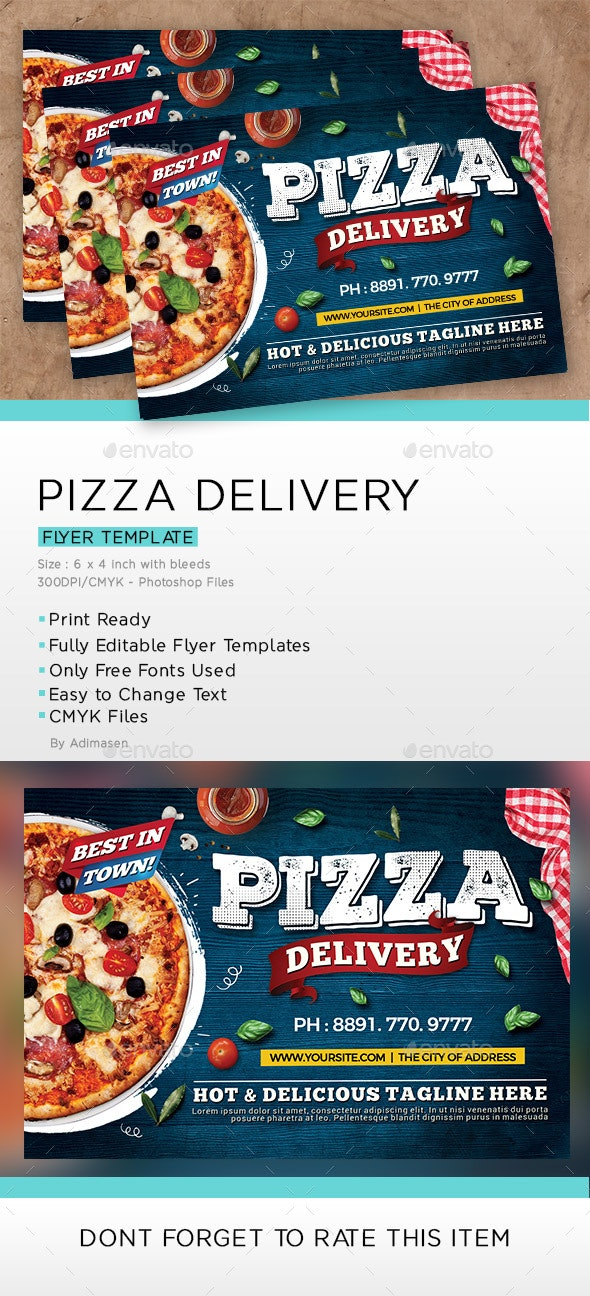Pizza Delivery Flyer - Restaurant Flyers