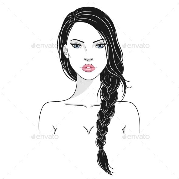 Vector Illustration of a Woman - Miscellaneous Vectors