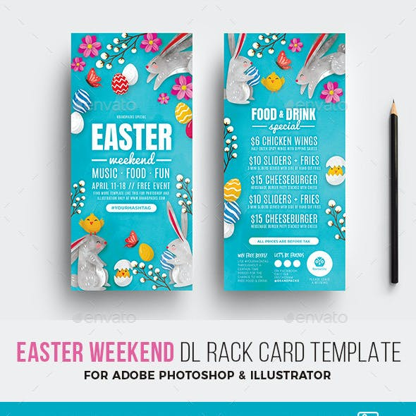 Easter DL Rack Card