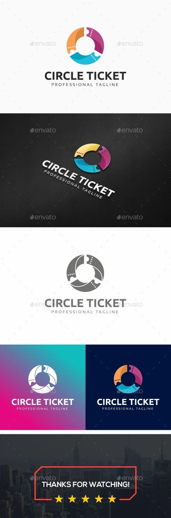 Ticket Logo Template - Symbols Logo Templates