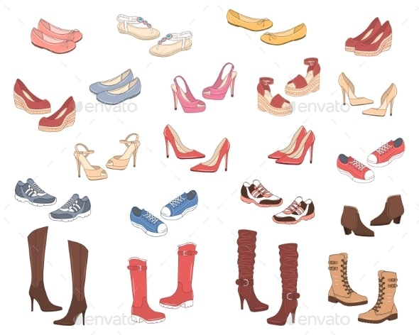 Women Shoes Collection - Man-made Objects Objects