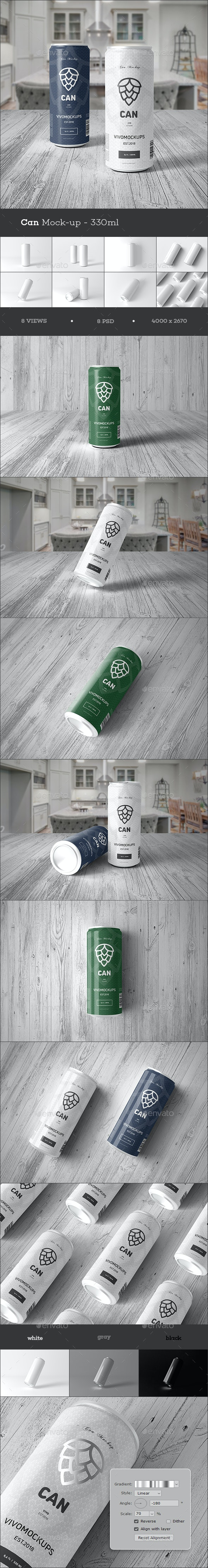 Can Mockup 330ml - Food and Drink Packaging