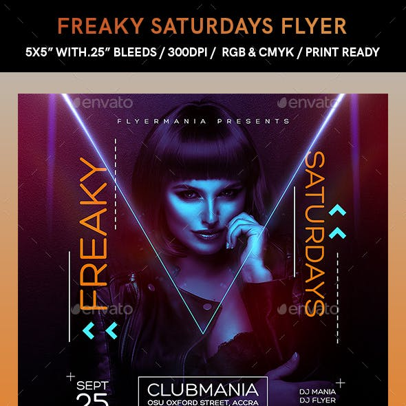 Freaky Saturdays Flyer