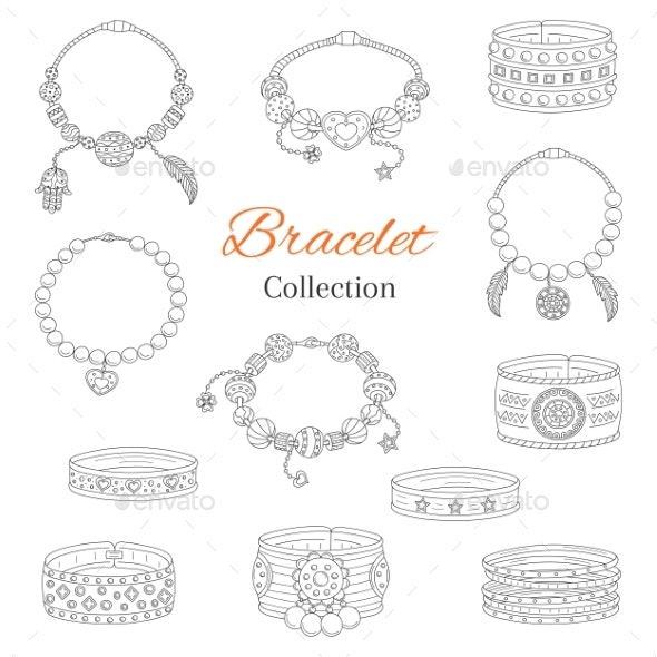 Fashionable Bracelets Collection - Man-made Objects Objects