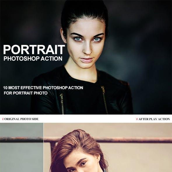 10 Portrait Photoshop Action